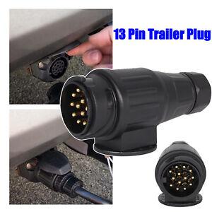 Trailer Plug 13Pin Caravans Socket Plug Electrical Connector Car Accessories 12V