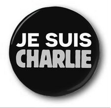 JE SUIS CHARLIE - 1 inch /25mm Button Badge - Hebdo Paris Protest 10% to Charity