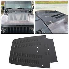 Aluminum Vented Hood Louver Black Powdercoat For 03-06 Jeep Wrangler TJ / LJ