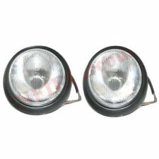 Pair Hella RH LH Headlight Headlamp H4 Holding Bucket Glass Beam Willys Jeep S2u