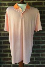 Nike Golf Dri Fit Polo Shirt Orange/White Modern Fit Size Xl