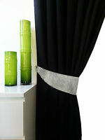 Pair of Diamante Silver Sparkling Tie Backs Curtains Blind Holder New Arrival
