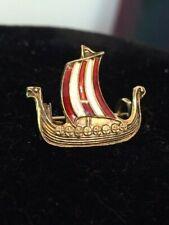 Bjp Viking Damascene Ship Schooner Sterling Boat Pin Brooch Maltese Spain