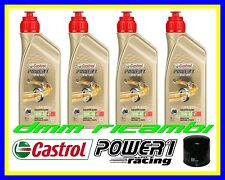 Kit Tagliando HONDA CBR 1000 RR 10 Filtro Olio CASTROL POWER1 RACING 10W40 2010