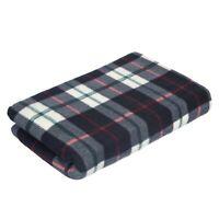 OFFER Tartan Fleece Blanket Sofa Bed Throw Over Cover Large 150 x 200 CM Black