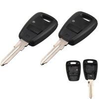 2x Remote Key Fob Shell Case w/ Blade 1 Button For Fiat Punto Doblo Bravo  J K