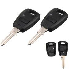 2x Remote Key Fob Shell Case w/ Blade 1 Button For Fiat Punto Doblo Bravo Stilo