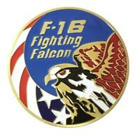 U.S. United States Air Force USAF | F-16 Fighting Falcon | Gold Plated Coin