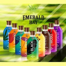 EMERALD BAY SUNBED TANNING ACCELERATOR LOTION CREAM COLLECTION PLUS FREE GOGGLES