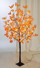 LED Baum Lichterbaum Dekobaum Herbstdeko 96 LED s Ahorn Blätter Herbst 150cm XXL