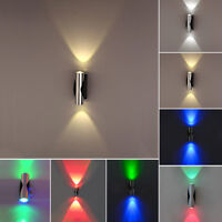 Up/Down 2W LED Wall Sconce Lamp Indoor Light Fixture Aluminum Living Room Hotel
