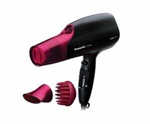 Panasonic Nanoe Moisture Infusion Hair Dryer Black/Pink 3 Attachments EH-NA65-K