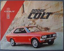 Orig Vintage Chrysler Dodge Colt 2 & 4 Door Wagon Car Sales Brochure Canada