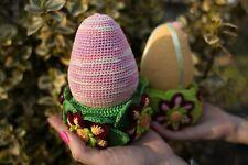 Crochet easter Egg Easter gift Knitted Children Toy Home decor Crochet stand