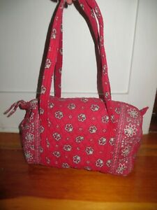 Vintage Vera Bradley  Duffel Bag in Retired Red Bandana Pattern