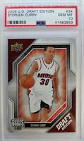 2009 09-10 Upper Deck Draft Edition STEPHEN CURRY Rookie RC #34, Graded PSA 10