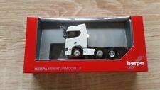 Herpa 307543 - 1/87 Scania Cs 20 Hd 6X2 Zugmachine - Weiss - Neu