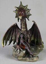 SUMMER DRAGON PEWTER FIGURE Rob Carlos Fantasy Art NEW Hand Painted Sculpture