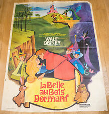 RARE ! Affiche de cinéma : LA BELLE AU BOIS DORMANT de STUDIOS DISNEY