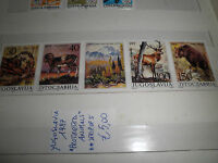 "FRANCOBOLLI YUGOSLAVIA 1987 ""PROTECTED ANIMALS"" MNH** STRIP OF 5 (CAT.Z)"