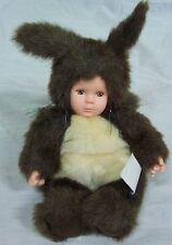 "Anne Geddes BABY IN SQUIRREL COSTUME 7"" Plush STUFFED ANIMAL DOLL"