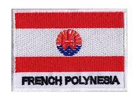 Patch écusson patche drapeau POLYNESIE Française 70 x 45 mm brodé à coudre