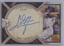 CHRIS TAYLOR 2018 TOPPS MUSEUM AUTO /50 DODGERS