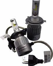 6000K Xenon White R4 COB LED Headlight Conversion Kit 36W 3800Lm Bulbs H4