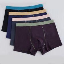 Atmungsaktive Herren Baumwoll Unterwäsche Boxershorts  Bulge Pouch Unterhose