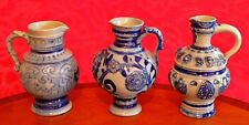 Three Vintage German Ceramic Jugs Derby
