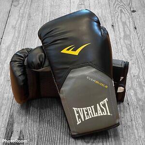 Everlast Training Boxing Gloves Elite Evershield 12 Oz Black Gray Gently Used