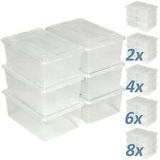 Boîte transparente à chaussure avec couvercle rangement empilable stockage