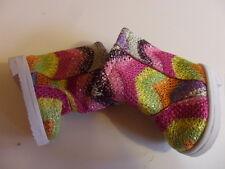 Magical fabric boots, Sole length 7 cm for Bear and Doll rainbow