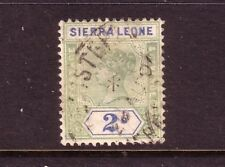 SIERRA LEONE....  1896  2/- green/ultramarine used....cv £60