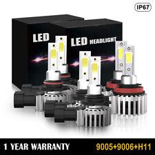 For Toyota 4Runner 2006-2009 6 Combo 9005 H11 LED Headlight 9006 Fog Light Bulbs