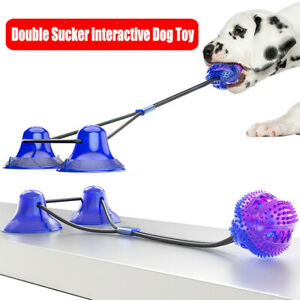 Pet molar bite toy Super Strong Floor Suction Tugger Cup Dog Toy with Ball