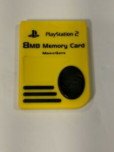 Official Sony Playstation 2 Nyko 8MB Memory Card (PS-80516/Yellow)
