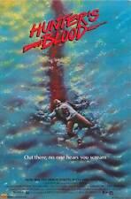 HUNTER'S BLOOD Movie POSTER 27x40 Sam Bottoms Kim Delaney Clu Gulager Ken