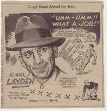 1939 newspaper panel  - Notre Dame coach Elmer Layden ready for season