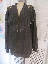 Vintage 80's Sandra Daniels for Danieli Western Fringe Acid Jean Jacket 1X 18W