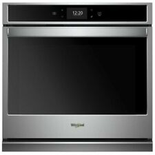 "Whirlpool - 30"" Built-In Single Electric Convection Wall Oven - Stainless steel"