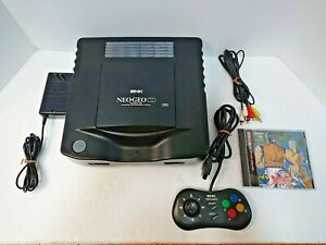 Neo Geo CD Console System with controller Art of Fighting 2 Japan Tested