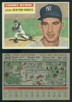 (49723) 1956 Topps 215 Tommy Byrne Yankees-EX