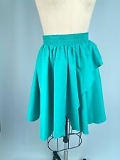 Vintage Skirt Teal Western Collection XL Extra Large Ruffle Square Dance 80s
