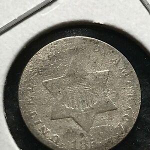 1852 US. Silver III Cent ( Trime) Piece / Fine