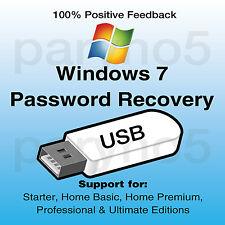 Remove Windows 7 Password Reset Recovery USB Home Premium Professional Ultimate