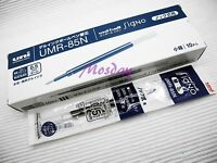 12 x Uni-Ball Signo 207 RollerBall Pen 0.5mm Refills UMR-85, BLUE BLACK