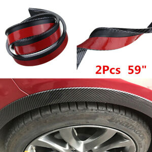 "Universal 59"" Car Fender Flares Extension Wheel Eyebrow Protector Lip Moulding"