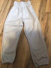 Boys Baseball Pants Gray Wilson Youth Size Xs/Small Elastic Waist