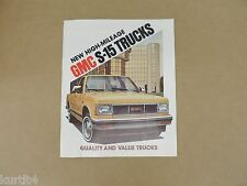 1982 GMC S-15 Pickup High Sierra Classic Gypsy sales brochure dealer catalog